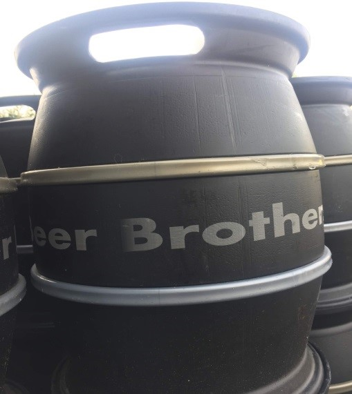 Here is one of the Beer Brothers Kegs ready to be filled up on Louise's Brew Day.