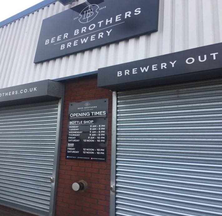 Here is the entrance to the Beer Brothers Brewery in which Louise is ready for her Brew Day.