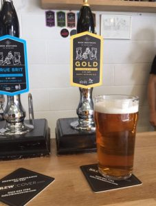 Here is the Beer Brothers Gold Beer, made with Saaz hops for a refreshing taste.