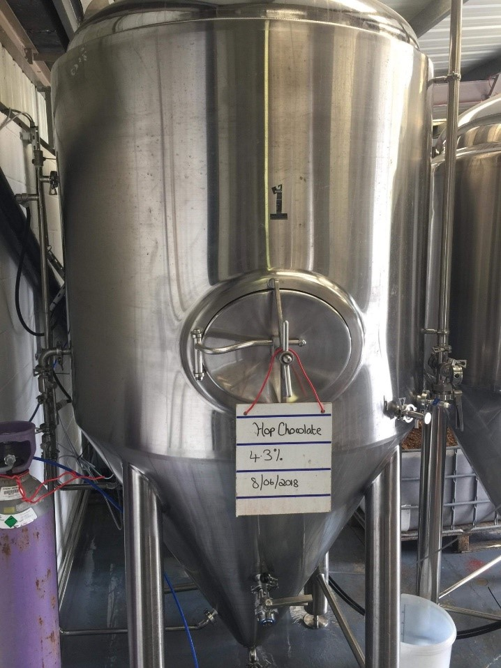 This is the Hop Chocolate beer created by our Development Executive and the Beer Brothers at the Brew Day.