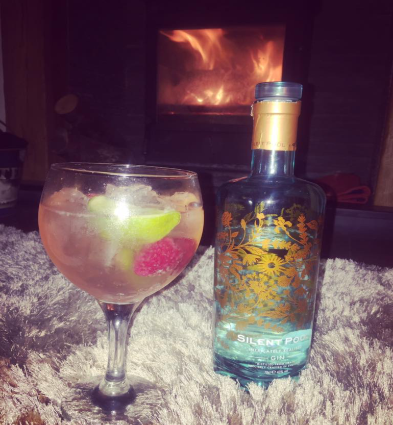 Here is Silent Pool Gin with Fevertree Tonic.