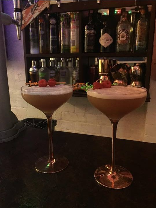 Here is the French Martini which our Development Executive made in her own bar.