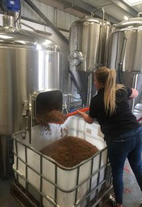 Here you can see our Development Executive on the brew day at Beer Brothers Brewery.
