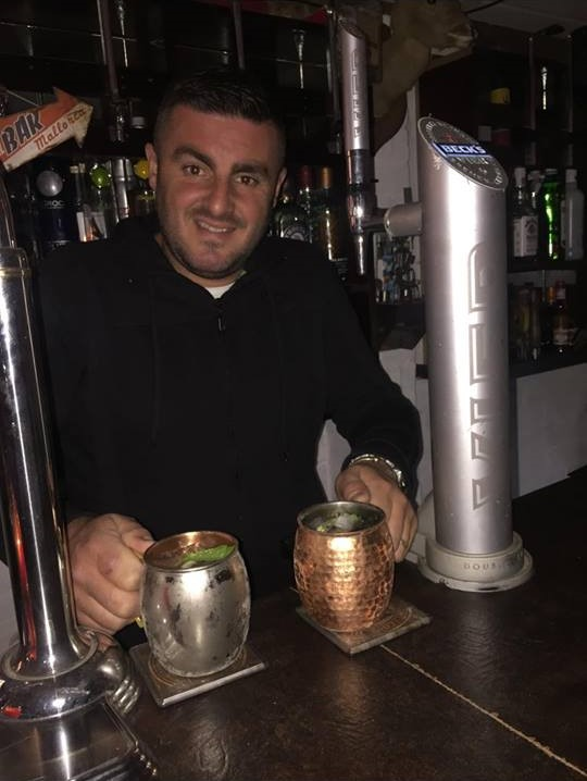 This is our Development Executive's husband enjoying a few drinks in their bar the Twist Arms.