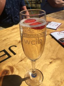 Here are one of the prosecco glasses at the Reet Good Beer Festival which are sponsored by WCIB.
