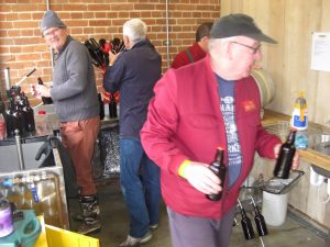 Volunteers brewing at Pumphouse Community Brewery in Essex - Brewcover UK.