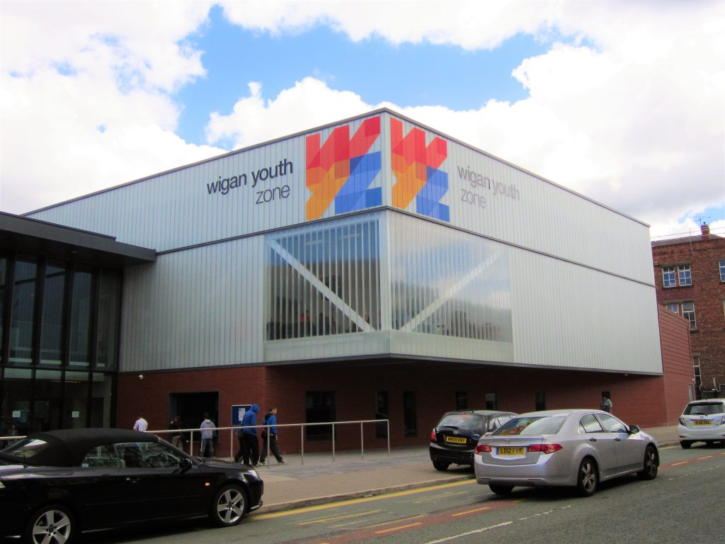 Here is the Wigan Youth Zone in Wigan in which the Reet Good Beer Festival raised money for.